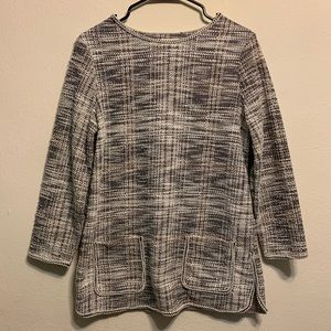 Max Studio Edge to Edge Tweed Pullover Top